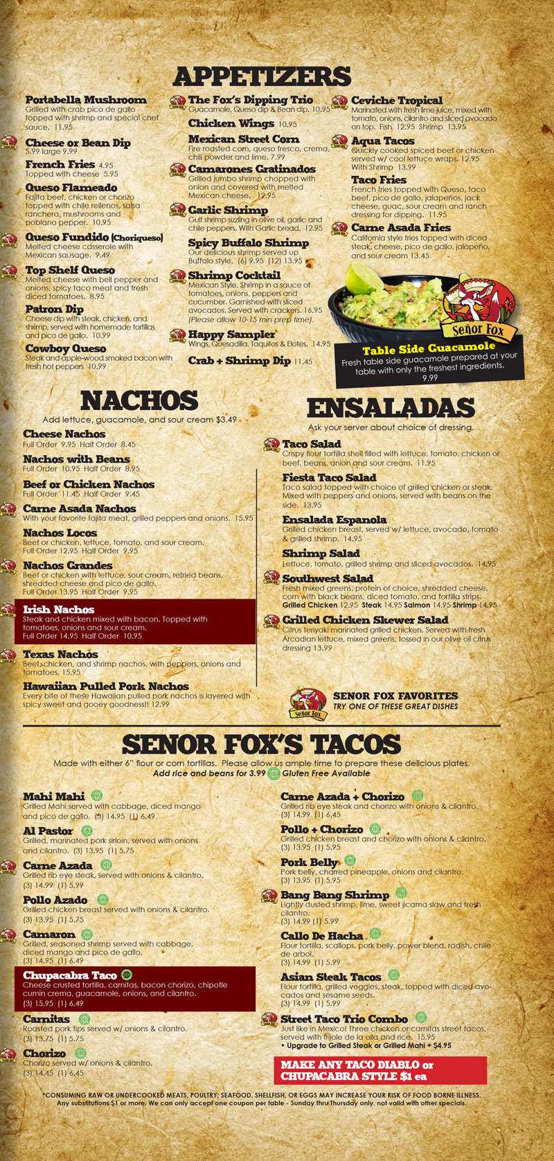 Senor-Fox-Menu-2020-Prices-3